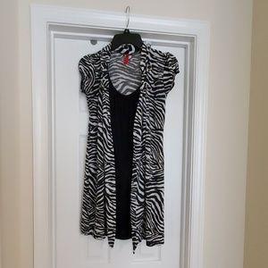 Dresses & Skirts - Juniors Zebra print mini dress